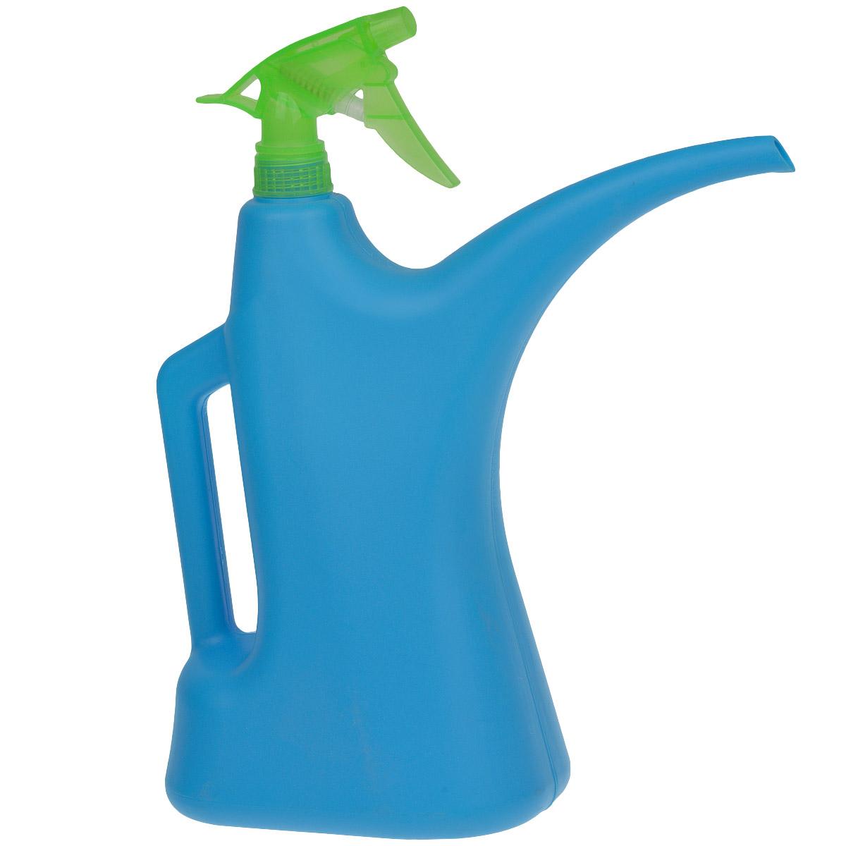 Лейка-распылитель Альтернатива, цвет: синий, зеленый, 2 лM276Лейка-распылитель Альтернатива предназначена для полива насаждений на приусадебном участке или комнатных растений дома. Она выполнена из пластика и имеет небольшую массу, что позволяет экономить силы при поливе. Удобство в использовании также обеспечивается за счет эргономичной ручки лейки.