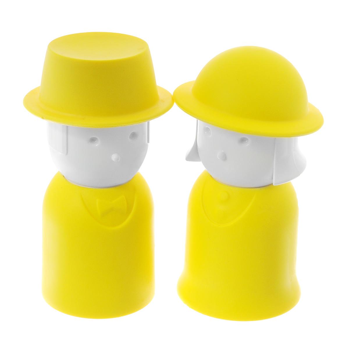 Набор для специй Qualy Mr. Pepper & Mrs. Salt, цвет: желтый, 2 предметаQL10054-YWНабор Qualy Mr. Pepper & Mrs. Salt, состоящий из солонки и перечницы, изготовлен из пластика с прорезиненным покрытием. Емкости выполнены в виде человечков и оснащены крышками. Солонка и перечница легки в использовании: стоит только перевернуть емкости, и вы с легкостью сможете поперчить или добавить соль по вкусу в любое блюдо. Дизайн, эстетичность и функциональность набора позволят ему стать достойным дополнением к кухонному инвентарю.