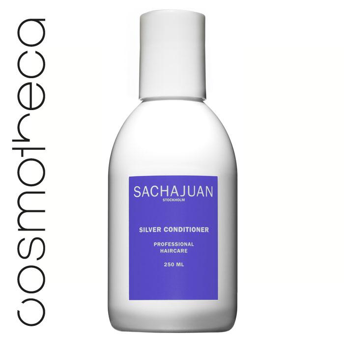 Sachajuan Кондиционер для светлых волос 250 млSCHJ166Серебристый кондиционер насыщает волосы пигментом, который препятствует и нейтрализует проявление нежелательного желтого или золотистого оттенка. Он увеличивает объем, усиливает сияние волос и защищает их от ультрафиолетового излучения. Технология «Морской шелк» увлажняет волосы, дарит им блеск и упругость.