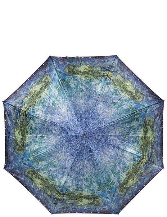 Зонт-трость женский Eleganzza, полуавтомат, цвет: голубой. Т-06-0258b 11Т-06-0251 11Стильный полуавтоматический зонт-трость Eleganzza даже в ненастную погоду позволит вам оставаться элегантной. Каркас зонта выполнен из 8 спиц из фибергласса, стержень стальной. Купол зонта, изготовленный из прочного полиэстера с водоотталкивающей пропиткой, оформлен ярким оригинальным орнаментом. Рукоятка закругленной формы разработана с учетом требований эргономики и выполнена из акрила черного цвета. Зонт механического сложения: купол открывается нажатием на кнопку, закрывается вручную до характерного щелчка. Такой зонт не только надежно защитит вас от дождя, но и станет стильным аксессуаром.