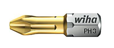 Биты TiN Torsion 7011SB PH3x25, 2 шт Wiha 0784607846Вязкотвердый бит TiN Torsion с очень твердым покрытием из нитрида титана, увеличивающее износостойкость бита. Бит TiN Torsion объединяет в себе преимущества битов Wiha HOT и ZOT Размер: PH3;