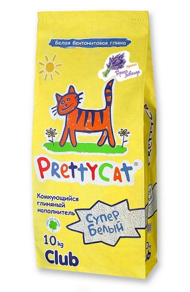 "PrettyCat Наполнитель Pretty Cat ""Cупер белый"" для кошачьего туалета, глиняный, аромат лаванды, 10 кг 620420"