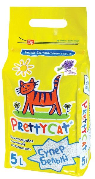 Наполнитель Pretty Cat Cупер белый для кошачьего туалета, глиняный, аромат лаванды, 4,2 кг620413Наполнитель Pretty Cat Cупер белый - это экологически чистый продукт, который производится из бентонитовых глин высших Европейских сортов по запатентованному рецепту. Натуральный комкующийся наполнитель впитывает до 400% влаги. Свежий аромат появляется только под воздействием влаги и придает дополнительное ощущение свежести в зоне лотка. Прекрасно комкуется в ровные шарики. Инструкция по применению: Насыпьте наполнитель слоем до 5-7 см в лоток. При использовании лотка с сеткой достаточно слоя под сеткой 1 см. Твердые отходы удаляйте каждый день. При возникновении неприятного запаха полностью смените наполнитель в лотке. Использованный наполнитель можно выбрасывать в бак. Не выбрасывайье в туалет! Pretty Cat - свежесть, забота и чистота! Размер гранул: 0,6 - 1,7 мм. Вес: 4,2 кг (5 л).
