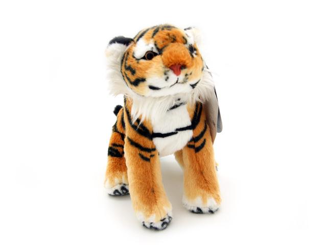 Мягкая игрушка Magic Bear Toys Тигр, 18 см7HU18BRОчаровательная игрушка Magic Bear Toys Тигр изготовлена из нетоксичных экологически чистых материалов. Глазки и носик выполнены из пластика. Зверек обладает мягкой шерсткой, выполненной из искусственного меха. Голова игрушки имеет уплотненный каркас. Для набивки используется силиконизированное волокно. Удивительная мягкая игрушка принесет радость и подарит своему обладателю мгновения нежных объятий и приятных воспоминаний. Великолепное качество исполнения делают эту игрушку чудесным подарком к любому празднику. Трогательная и симпатичная, она непременно вызовет улыбку у детей и взрослых.