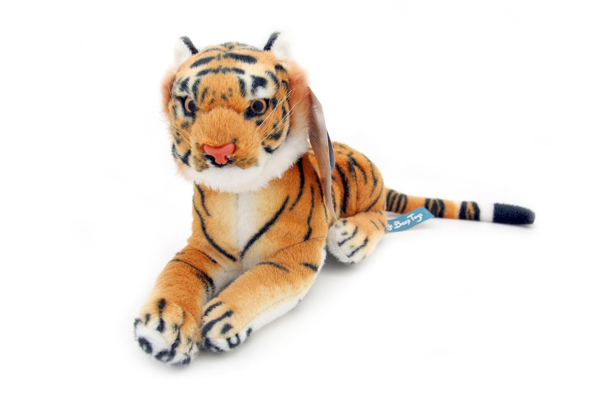 Мягкая игрушка Magic Bear Toys Тигр, 32 смHW32BRОчаровательная игрушка Magic Bear Toys Тигр изготовлена из нетоксичных экологически чистых материалов. Глазки и носик выполнены из пластика. Зверек обладает мягкой шерсткой, выполненной из искусственного меха. Голова игрушки имеет уплотненный каркас. Для набивки используется силиконизированное волокно. Удивительно мягкая игрушка принесет радость и подарит своему обладателю мгновения нежных объятий и приятных воспоминаний. Великолепное качество исполнения делают эту игрушку чудесным подарком к любому празднику. Трогательная и симпатичная, она непременно вызовет улыбку у детей и взрослых.