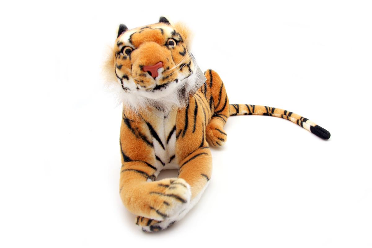 Мягкая игрушка Magic Bear Toys Тигр, 45 смHW45BRОчаровательная игрушка Magic Bear Toys Тигр изготовлена из нетоксичных экологически чистых материалов. Глазки и носик выполнены из пластика. Зверек обладает мягкой шерсткой, выполненной из искусственного меха. Голова игрушки имеет уплотненный каркас. Для набивки используется силиконизированное волокно. Удивительная мягкая игрушка принесет радость и подарит своему обладателю мгновения нежных объятий и приятных воспоминаний. Великолепное качество исполнения делают эту игрушку чудесным подарком к любому празднику. Трогательная и симпатичная, она непременно вызовет улыбку у детей и взрослых.
