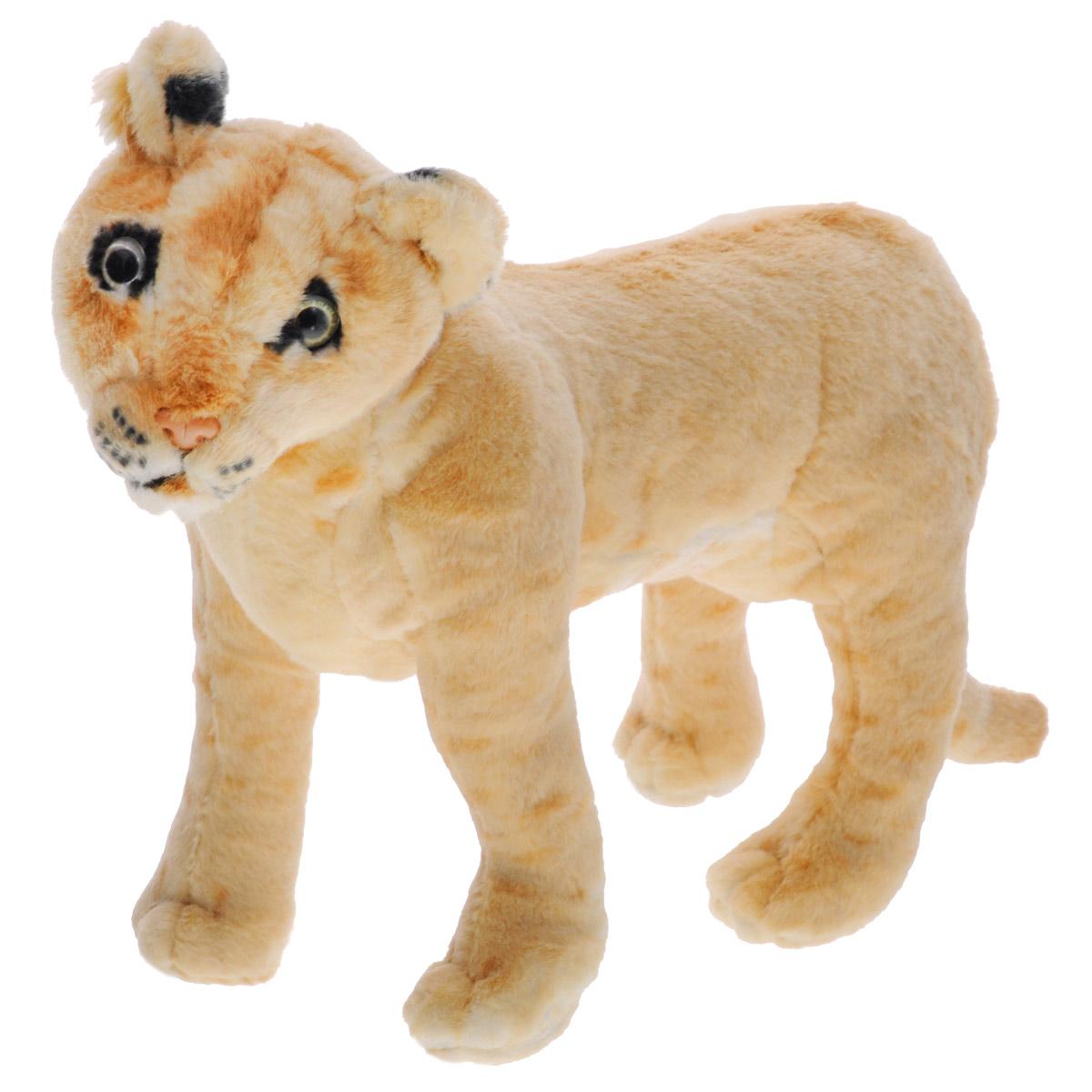 Magic Bear Toys Мягкая игрушка Лев, 30 см. R-SL30FR-SL30FОчаровательная игрушка Magic Bear Toys Лев выполнена в виде красивого льва. Игрушка изготовлена из нетоксичных экологически чистых материалов. Глазки и носик выполнены из пластика. Зверек обладает мягкой бежевой шерсткой, выполненной из искусственного меха. Благодаря внутреннему специальному каркасу, лев может самостоятельно стоять. Для набивки используется силиконизированное волокно. Удивительно мягкая игрушка принесет радость и подарит своему обладателю мгновения нежных объятий и приятных воспоминаний. Великолепное качество исполнения делают эту игрушку чудесным подарком к любому празднику. Трогательная и симпатичная, она непременно вызовет улыбку у детей и взрослых.