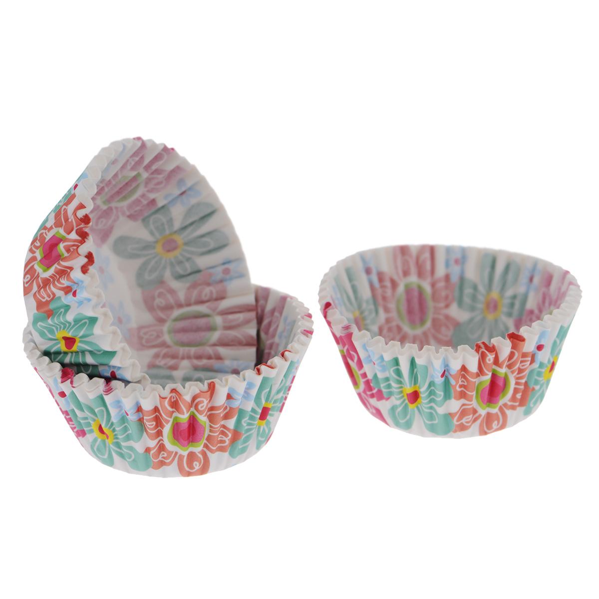 Набор бумажных форм для кексов Wilton Весна, диаметр 5 см, 75 штWLT-415-6080Набор Wilton Весна состоит из 75 бумажных форм для кексов. Они предназначены для выпечки и упаковки кондитерских изделий, также могут использоваться для сервировки орешков, конфет и др. Формы не требуют предварительной смазки маслом или жиром. Для одноразового применения. Гофрированные бумажные формы идеальны для выпечки кексов, булочек и пирожных.