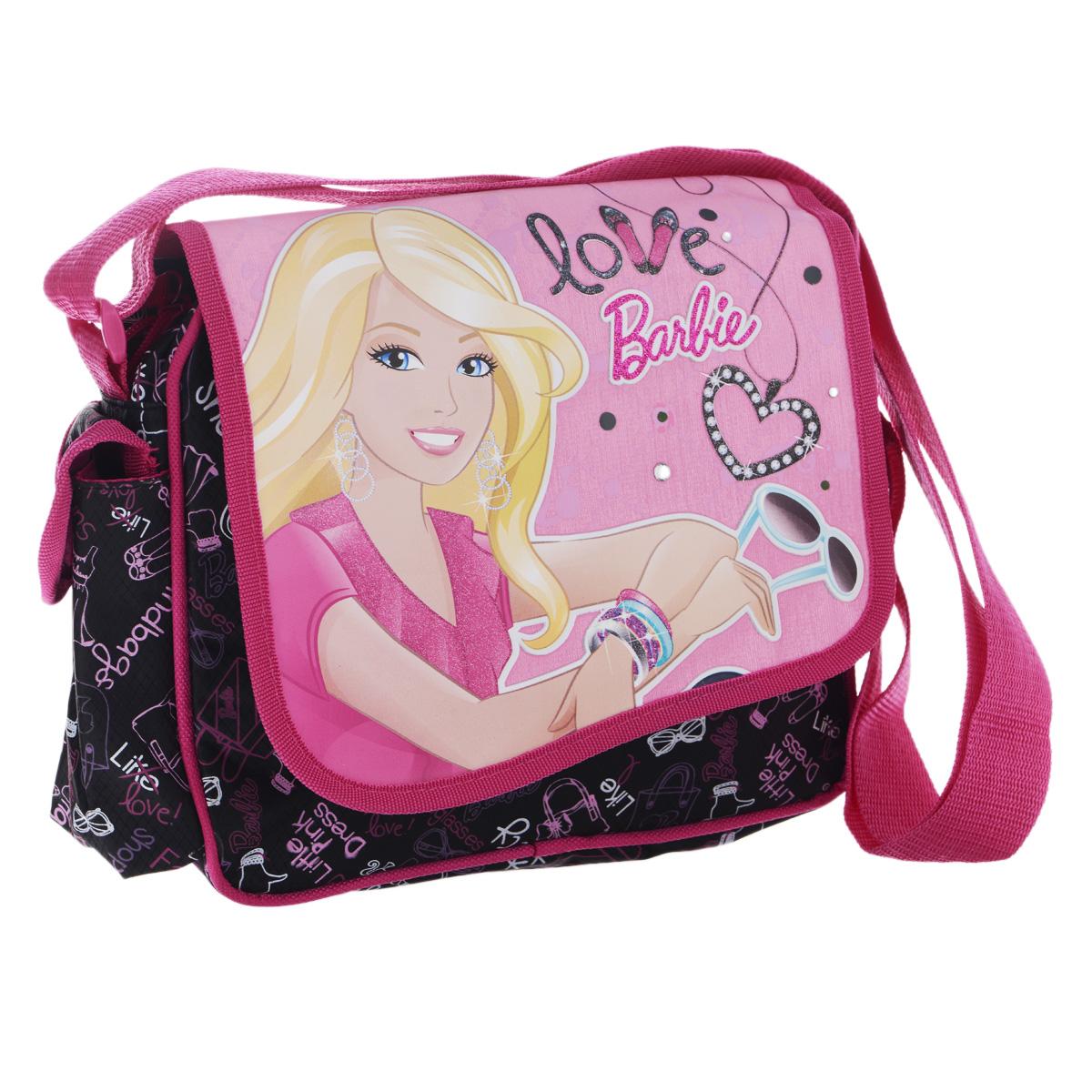 Barbie Сумка детская на плечо цвет черный розовый BRAB-RT2-035