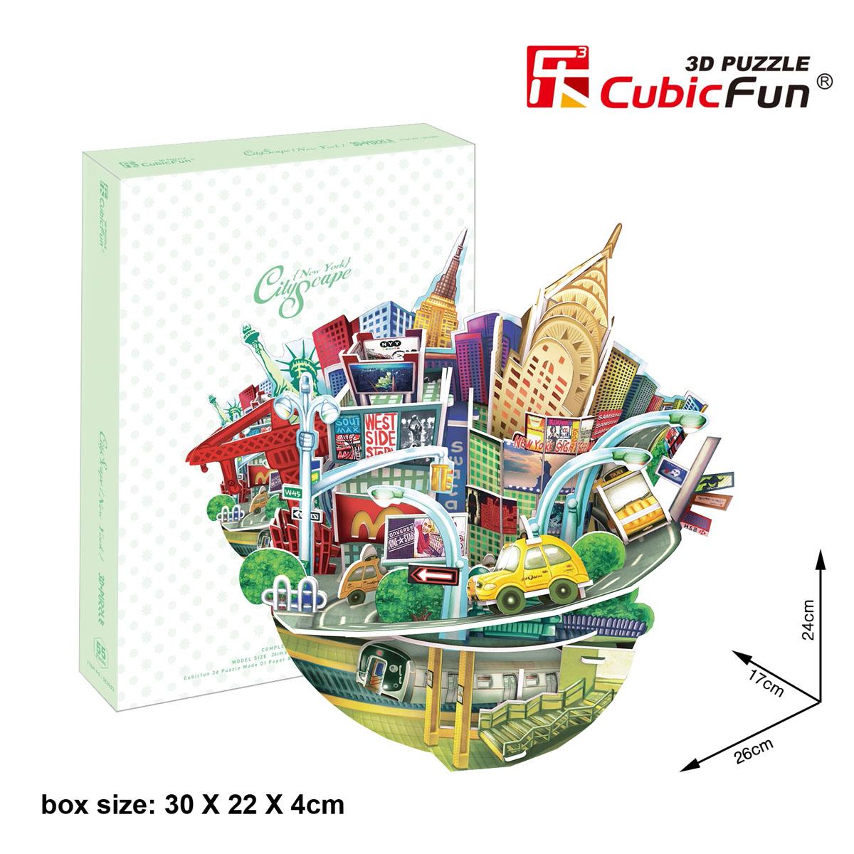 CubicFun Городской пейзаж: Нью-Йорк, 55 элементов