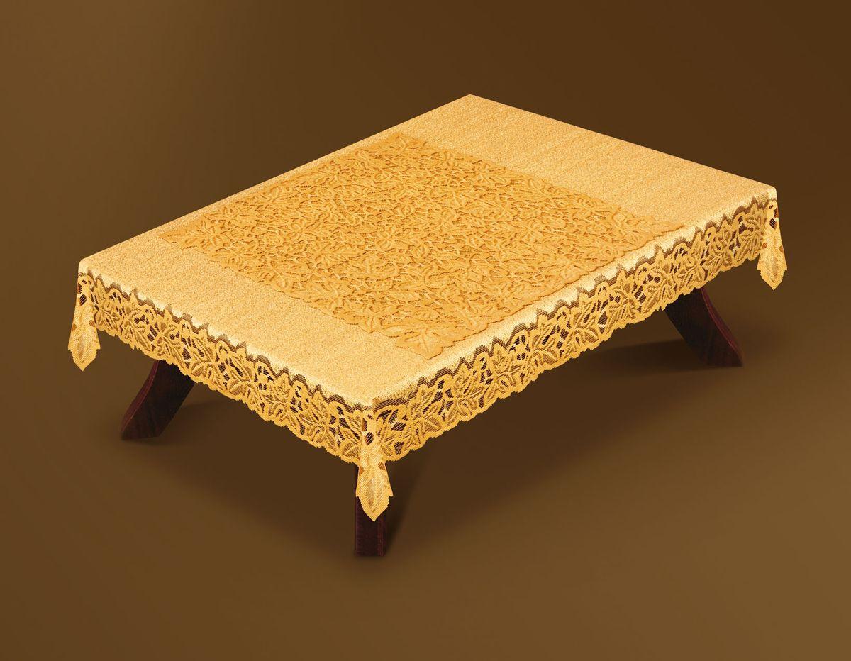 Скатерть Haft Gold Line, с накладкой, прямоугольная, цвет: бронзовый, 120 x 160 см. 200510-120200510-120 бронзаВеликолепная прямоугольная скатерть Haft Gold Line, выполненная из полиэстера, органично впишется в интерьер любого помещения, а оригинальный дизайн удовлетворит даже самый изысканный вкус. Скатерть изготовлена из сетчатого материала с ажурным рисунком по краям. В комплекте квадратная накладка, декорированная ажурным рисунком. Скатерть Haft Gold Line создаст праздничное настроение и станет прекрасным дополнением интерьера гостиной, кухни или столовой. Размер накладки: 70 см х 70 см.
