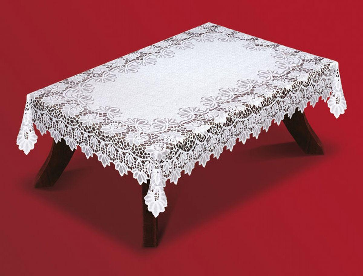 """Скатерть """"Haft"""", прямоугольная, цвет: белый, 130 x 180 см. 202540-130"""