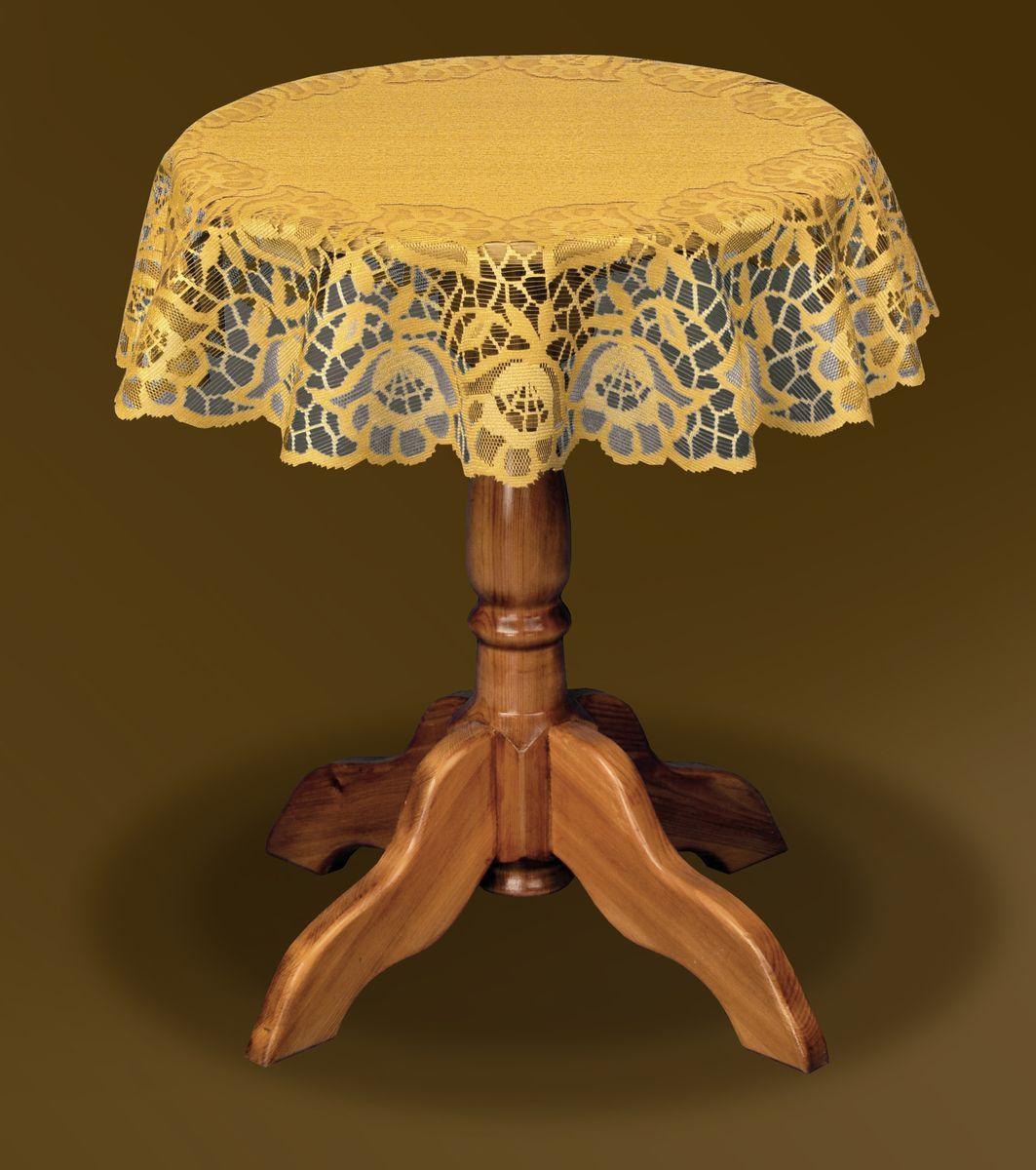 Скатерть Haft Gold Line, круглая, цвет: бронзовый, диаметр 160 см. 206843-160206843-160 бронзаВеликолепная круглая скатерть Haft Gold Line, выполненная из полиэстера, органично впишется в интерьер любого помещения, а оригинальный дизайн удовлетворит даже самый изысканный вкус. Скатерть выполнена из сетчатого материала с ажурным цветочным орнаментом по краям. Скатерть Haft Gold Line создаст праздничное настроение и станет прекрасным дополнением интерьера гостиной, кухни или столовой. Диаметр скатерти: 160 см.