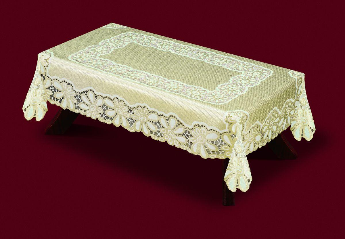 Скатерть Haft, прямоугольная, цвет: кремовый, золотистый, 120 x 160 см. 33250-12033250-120Великолепная прямоугольная скатерть Haft, выполненная из полиэстера, органично впишется в интерьер любого помещения, а оригинальный дизайн удовлетворит даже самый изысканный вкус. Скатерть изготовлена из сетчатого материала с ажурным цветочным рисунком. Края скатерти ажурные. Скатерть Haft создаст праздничное настроение и станет прекрасным дополнением интерьера гостиной, кухни или столовой.