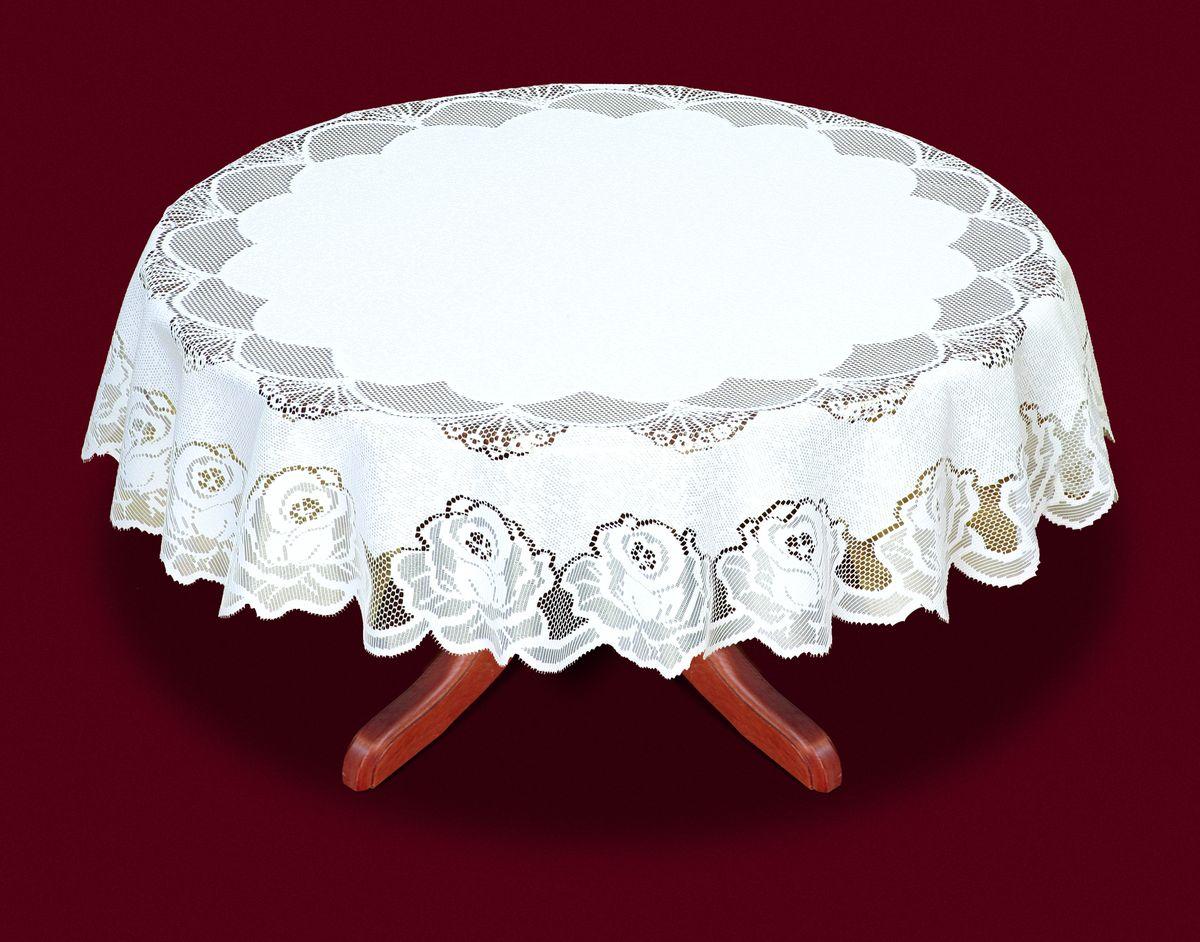 Скатерть Haft, цвет: белый, диаметр 120 см. 33330-12033330-120Великолепная круглая скатерть Haft, выполненная из полиэстера, органично впишется в интерьер любого помещения, а оригинальный дизайн удовлетворит даже самый изысканный вкус. Скатерть изготовлена из сетчатого материала с ажурным цветочным рисунком. Скатерть Haft создаст праздничное настроение и станет прекрасным дополнением интерьера гостиной, кухни или столовой. Края скатерти ажурные. Диаметр скатерти: 120 см.