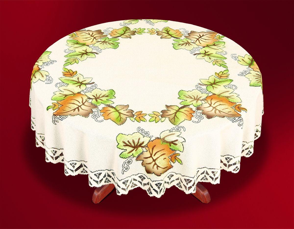 Скатерть Haft Skarb Babuni, круглая, цвет: кремовый, диаметр 150 см. 33443-150 скатерть haft  skarb babuni