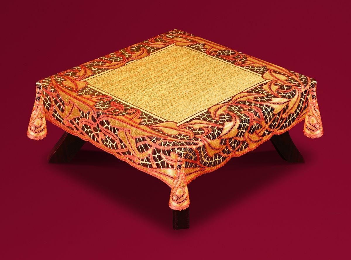 Скатерть Haft Skarb Babuni, квадратная, цвет: оранжево-терракотовый, 120 x 120 см. 50912-12050912-120 терракотВеликолепная квадратная скатерть Haft Skarb Babuni, выполненная из полиэстера, органично впишется в интерьер любого помещения, а оригинальный дизайн удовлетворит даже самый изысканный вкус. Скатерть выполнена из сетчатого материала с ажурным рисунком. Скатерть Haft Skarb Babuni создаст праздничное настроение и станет прекрасным дополнением интерьера гостиной, кухни или столовой.