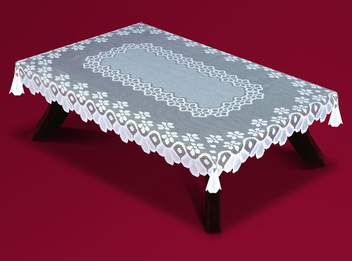 Скатерть Haft, прямоугольная, цвет: белый, 140 x 250 см. 54360-14054360-140Великолепная прямоугольная скатерть Haft, выполненная из полиэстера, органично впишется в интерьер любого помещения, а оригинальный дизайн удовлетворит даже самый изысканный вкус. Скатерть изготовлена из сетчатого материала с ажурным цветочным рисунком. Края скатерти ажурные. Скатерть Haft создаст праздничное настроение и станет прекрасным дополнением интерьера гостиной, кухни или столовой.