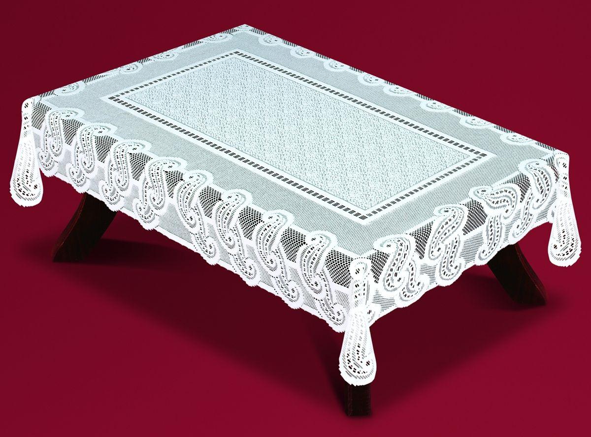 Скатерть Haft, прямоугольная, цвет: белый, 100 x 150 см. 54460-10054460-100Великолепная прямоугольная скатерть Haft, выполненная из полиэстера, органично впишется в интерьер любого помещения, а оригинальный дизайн удовлетворит даже самый изысканный вкус. Скатерть изготовлена из сетчатого материала с ажурным рисунком. Скатерть Haft создаст праздничное настроение и станет прекрасным дополнением интерьера гостиной, кухни или столовой.