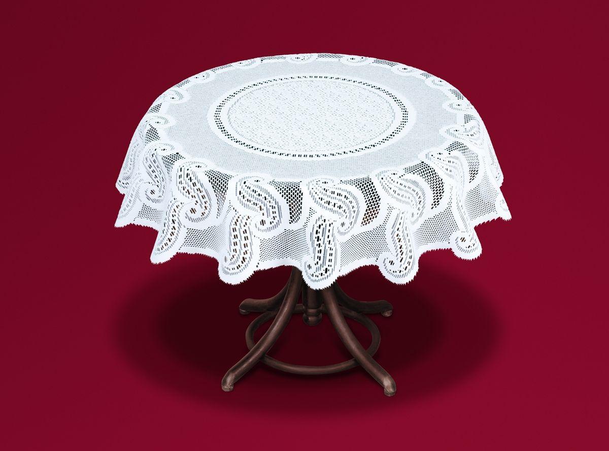Скатерть Haft, цвет: белый, диаметр 120 см54463-120Великолепная круглая скатерть Haft, выполненная из полиэстера, органично впишется в интерьер любого помещения, а оригинальный дизайн удовлетворит даже самый изысканный вкус. Скатерть изготовлена из сетчатого материала с ажурным рисунком. Скатерть Haft создаст праздничное настроение и станет прекрасным дополнением интерьера гостиной, кухни или столовой. Диаметр скатерти: 120 см.