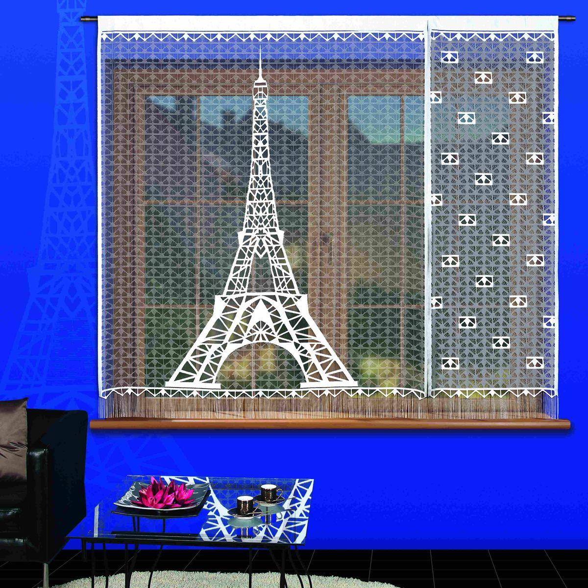 Гардина-панно Wisan Paryz, цвет: белый, черный, высота 180 см, 2 шт3353Воздушная гардина-панно Wisan Paryz, изготовленная из полиэстера, станет великолепным украшением любого окна. Изделие состоит из двух частей. Оригинальный принт в виде Эйфелевой башни и приятная цветовая гамма привлекут к себе внимание и органично впишутся в интерьер комнаты. Снизу гардина оформлена бахромой. Верхняя часть гардины не оснащена креплениями. Размер частей панно: 150 см х 180 см, 60 см х 180 см.