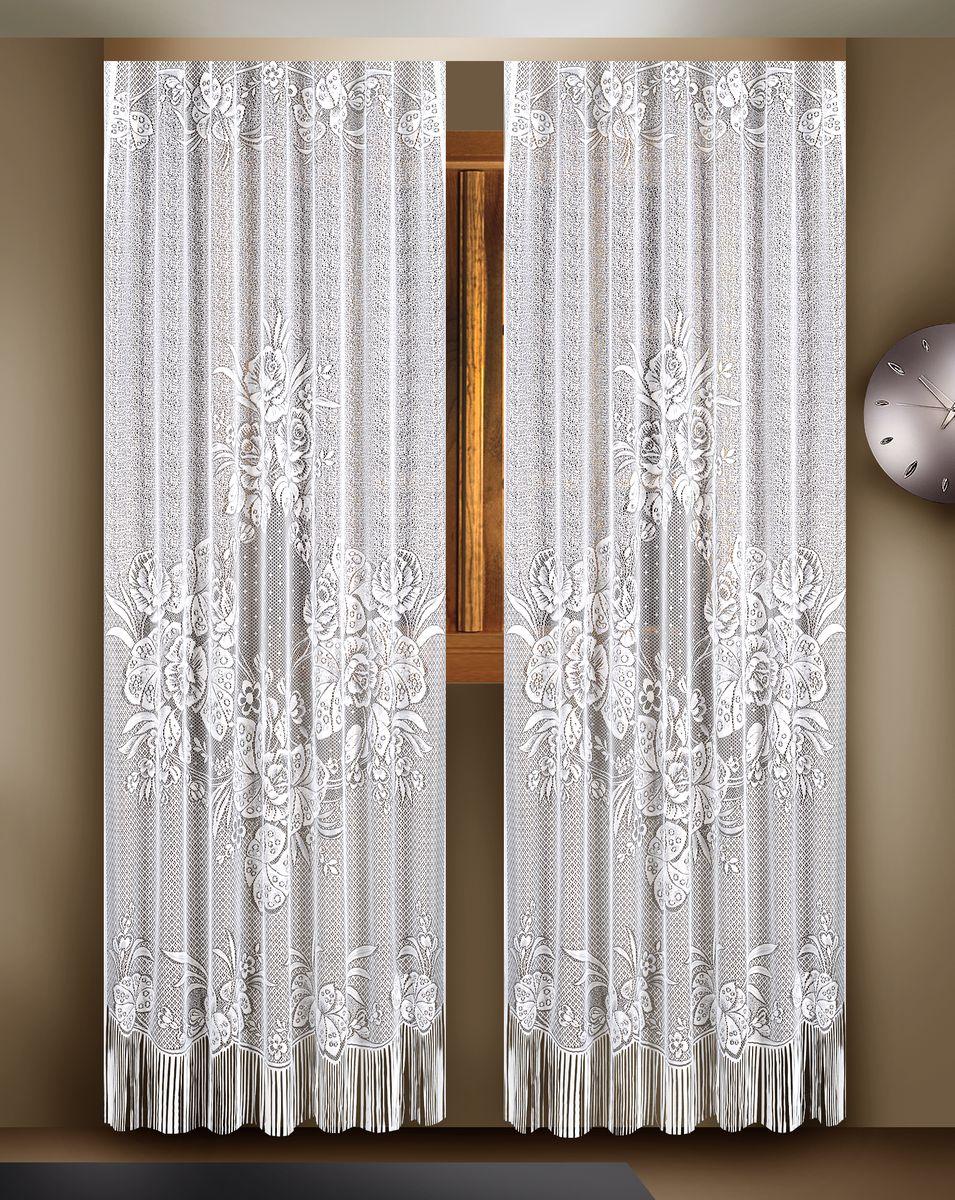 Гардина Zlata Korunka, цвет: белый, высота 260 см, 2 шт. 8882188821Гардины Zlata Korunka великолепно украсят любое окно в гостиной, спальне или на кухне. В комплекте 2 гардины, выполненные из полиэстера и украшенные красивым цветочным узором. Нижняя часть изделий оформлена бахромой, что придает гардинам особый стиль и шарм. Тонкое плетение, нежная цветовая гамма и роскошное исполнение - все это делает гардины Zlata Korunka замечательным дополнением интерьера комнаты в классическом стиле. В комплект входит: Гардина - 2 шт. Размер (ШхВ): 165 см х 260 см. УВАЖАЕМЫЕ КЛИЕНТЫ! Обращаем ваше внимание - шторная лента в комплект не входит.