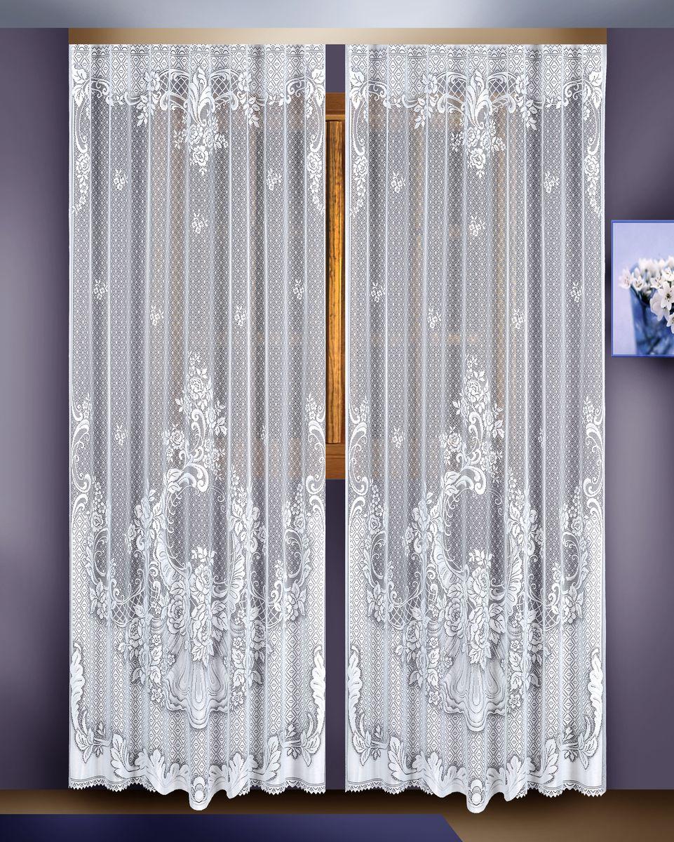 Гардина Zlata Korunka, цвет: белый, высота 255 см, 2 шт. 8882288822Гардина Zlata Korunka великолепно украсит любое окно в гостиной, спальне или на кухне. В комплекте 2 гардины, выполненные из полиэстера и украшенные красивым цветочным узором. Тонкое плетение, нежная цветовая гамма и роскошное исполнение - все это делает гардины Zlata Korunka замечательным дополнением интерьера комнаты в классическом стиле. В комплект входит: Гардина - 2 шт. Размер: 165 см х 255 см.