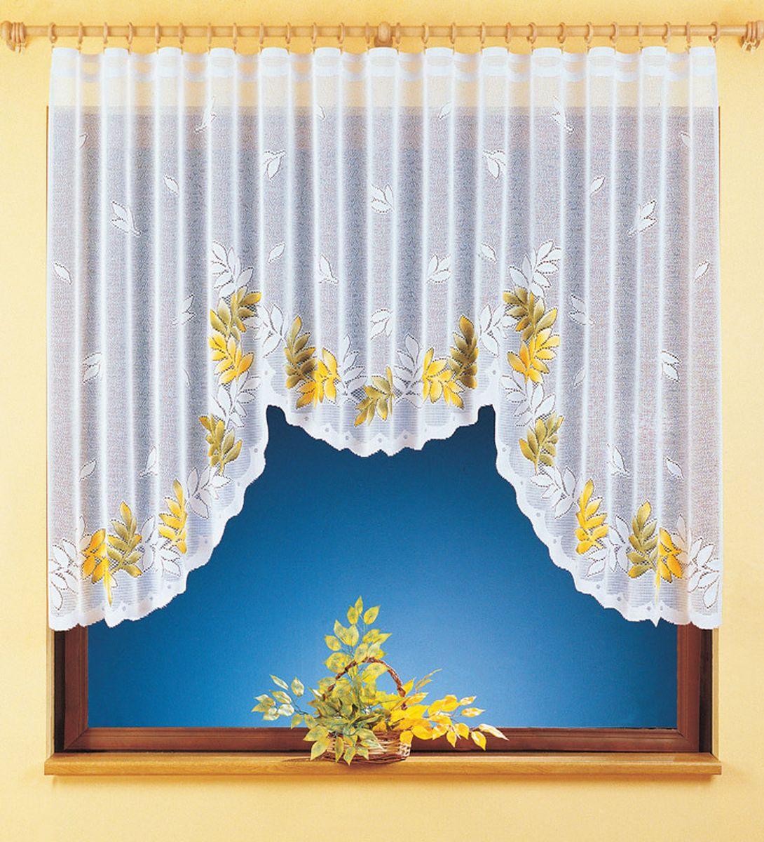 Гардина Wisan Yulia, на ленте, цвет: белый, высота 150 см9342Воздушная гардина Wisan Yulia, изготовленная из полиэстера, станет великолепным украшением любого окна. Изделие украшено ручной раскраской в виде листьев. Оригинальное оформление гардины внесет разнообразие и подарит заряд положительного настроения. Гардина оснащена шторной лентой для крепления на карниз.