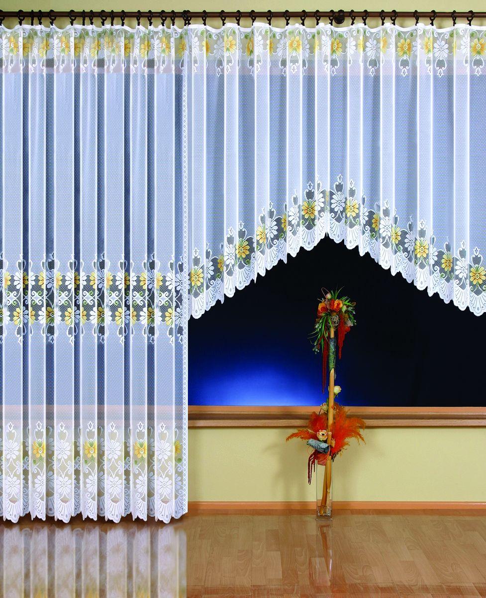 Гардина Wisan Ewelina, на ленте, цвет: белый, высота 150 см9361Воздушная гардина Wisan Ewelina, изготовленная из полиэстера, станет великолепным украшением любого окна. Изделие, оформленное цветочным рисунком, привлечет к себе внимание и органично впишется в интерьер комнаты. Оригинальное оформление гардины внесет разнообразие и подарит заряд положительного настроения. Гардина оснащена шторной лентой для крепления на карниз. Уважаемые клиенты! Обращаем ваше внимание на тот факт, что в комплект входит гардина 150 см. Фотография, представленная на сайте, служит для визуального восприятия товара.