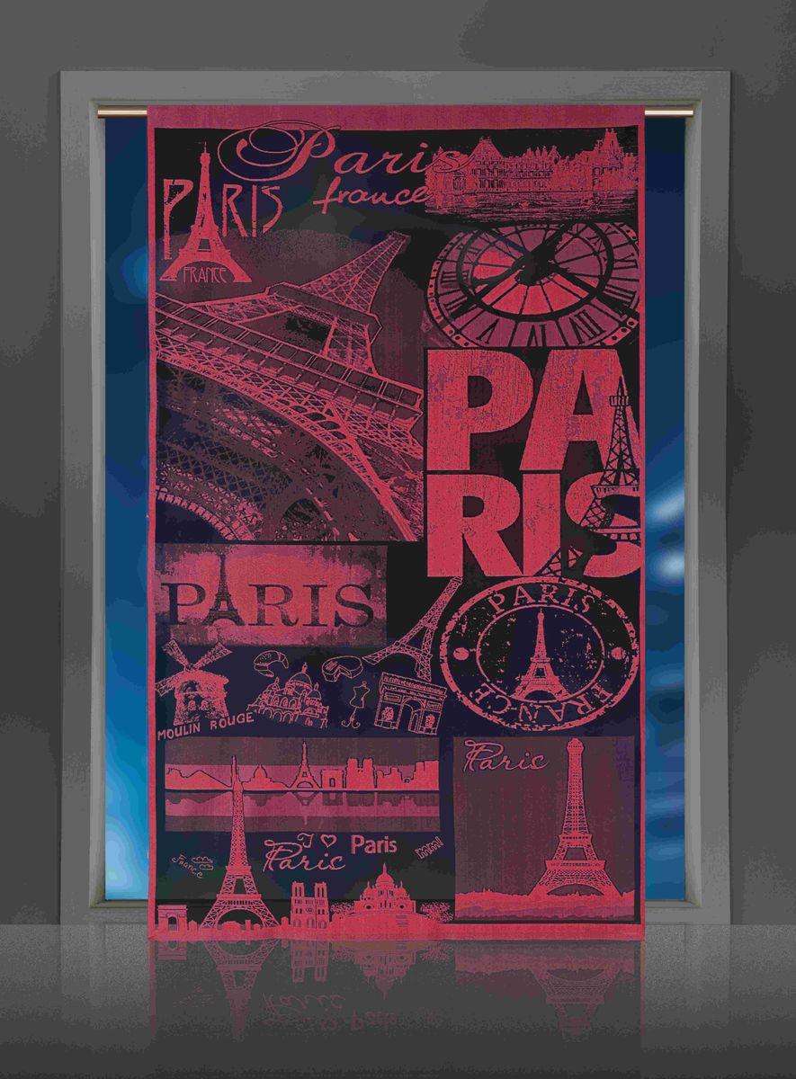 Гардина-панно Wisan Paris, цвет: бордовый, высота 240 смE113Воздушная гардина-панно Wisan Paris, изготовленная из полиэстера, станет великолепным украшением любого окна. Оригинальный принт в виде достопримечательностей Парижа и приятная цветовая гамма привлекут к себе внимание и органично впишутся в интерьер комнаты. Верхняя часть гардины не оснащена креплениями.