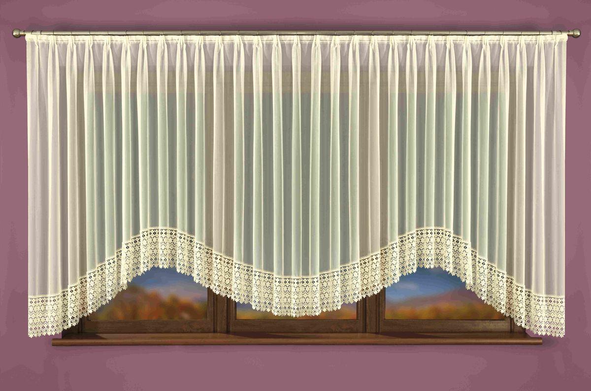 Гардина Wisan Isaura, на ленте, цвет: слоновая кость, высота 160 см. W039W040Гардина Wisan Isaura, изготовлена из полиэстера, легкой, тонкой ткани. Нижняя часть гардины оформлена ажурным орнаментом. Тонкое плетение и оригинальный дизайн привлекут к себе внимание и органично впишутся в интерьер комнаты. Оригинальное оформление гардины внесет разнообразие и подарит заряд положительного настроения. Гардина оснащена шторной лентой для крепления на карниз.
