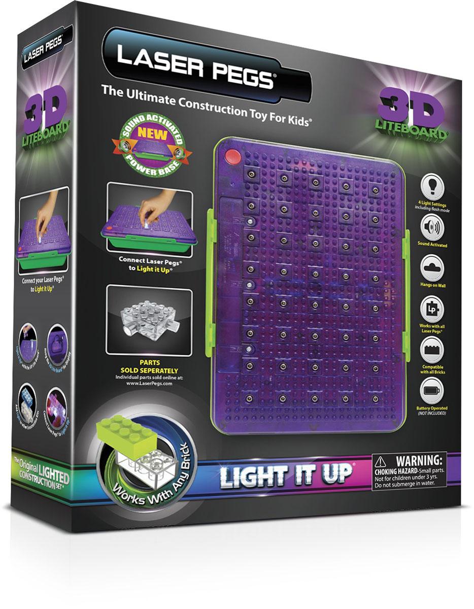 Laser Pegs Световая 3D панель для конструктораLB1105BСветовая 3D панель для конструктора Laser Pegs - это великолепное дополнение к любому набору световых конструкторов Laser Pegs. Световая панель разнообразит игры малыша и предоставит ему неограниченный простор для творчества. Световая панель имеет 3 режима свечения: стандартный, мерцающий, и быстрое мерцание. Она оснащена вырубками, позволяющими закрепить ее на стене как в горизонтальном, так и в вертикальном положении. Световая 3D панель совместима со всеми конструкторами Laser Pegs. С ее помощью малыш сможет не только строить по образцу, приведенному в инструкции, но и следовать собственному воображению и создавать что-то совершенно новое! Игры с конструкторами помогут ребенку развить воображение, внимательность, зрительное восприятие, пространственное мышление и творческие способности, а также уверенность в себе и коммуникативные навыки. Необходимо докупить 3 батарейки напряжением 1,5V типа АА (не входят в комплект).