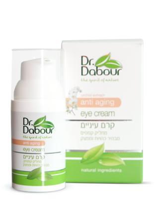 Dr. Dabour Крем вокруг глаз антивозрастной, с экстрактом орхидеи, 30 мл7290014739017Крем для ухода за деликатной областью вокруг глаз предупреждает признаки старения, уменьшает отеки, темные круги и тонкие морщинки. Крем насыщен увлажняющими компонентами, растительными экстрактами, витаминами, питательными маслами и антиоксидантами. Обеспечивает решение проблем, связанных с сухостью и истончением нежной кожи, повышая ее упругость и эластичность. Является профилактикой возникновения морщин. Разглаживает и уменьшает их глубину, эффективно высветляет «тени» под глазами, укрепляя хрупкие капилляры. Имеет легкую текстуру, которая быстро впитывается. Крем рекомендуется для всех типов кожи и для всех возрастов.