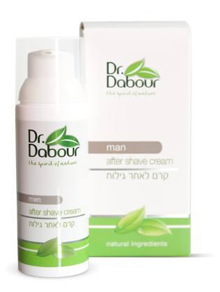 Dr. Dabour Крем после бритья, 50 мл7290014739031Нежный увлажняющий крем на основе натуральных растений, уменьшает раздражение, покраснение и снижает чувствительность. Питает, выравнивает и улучшает текстуру кожи, восстанавливает уровень влажности после бритья, предупреждает признаки старения. Обладает естественным и свежим ароматом, быстро впитывается, подходит для всех типов кожи. Поддерживает ощущение свежести в течение дня.