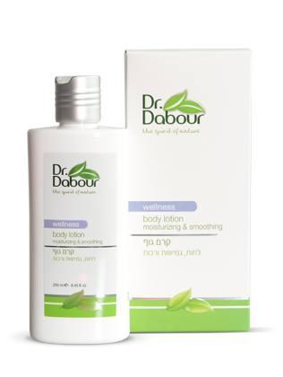 Dr. Dabour Лосьон для тела, 250 мл7290014739093Насыщенный лосьон с нежным цветочным ароматом для ухода за телом. Увлажняет, питает, смягчает, успокаивает, придаёт ощущение приятного комфорта и расслабленности. Быстро впитывается, не оставляя ощущения липкости. Содержит масло Ши и другие натуральные масла, предотвращает сухость и стягивание кожи, повышает упругость и эластичность.