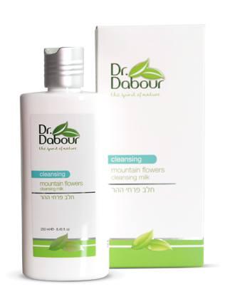 Dr. Dabour Очищающее молочко для лица «Горные цветы», 250 мл7290014739116Очищающее молочко с очень нежной консистенцией мягко удаляет загрязнения, макияж, восстанавливая естественный уровень влажности кожи. Содержит витамины, экстракты растений и цветов Галилеи с природными увлажняющими свойствами, обладает нежным и успокаивающим ароматом. Не вызывает сухости и стягивания кожи, смягчает, повышает восприимчивость кожи к дальнейшему уходу.