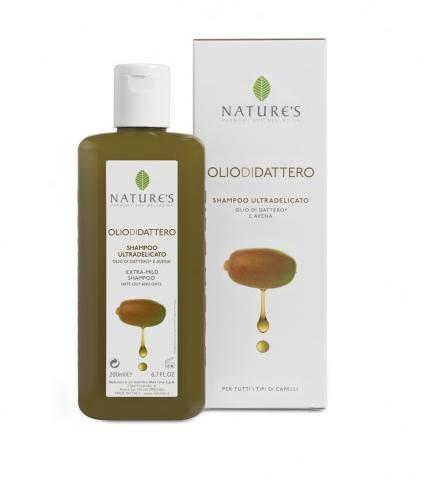 Natures Шампунь Oliodidattero экстра мягкий, для всех типов волос, 200 мл60210903Специальная формула содержит питательный и увлажняющий комплекс растительного происхождения на основе масла семян Финика, произрастающего в ограниченном регионе равнины Сахел, питает и укрепляет волокно волоса, обеспечивает защиту, оптимальный баланс питательных веществ, обеспечивает мягкость. Экстракт овса делает волосы мягкими, блестящими, не вызывает раздражения глаз. Волосы легко расчесываются. Идеальное средство для всей семьи, включая маленьких детей.
