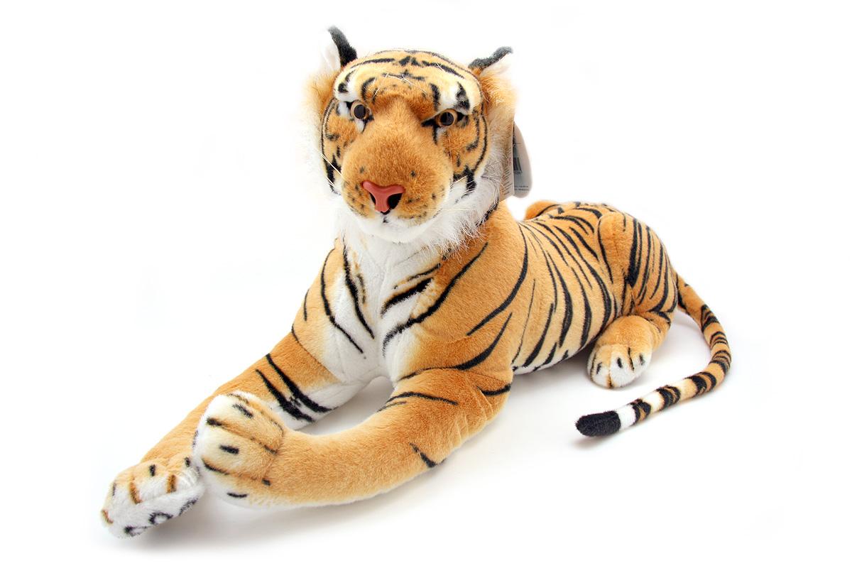 Мягкая игрушка Magic Bear Toys Тигр, 60 смHW60BRОчаровательная игрушка Magic Bear Toys Тигр изготовлена из нетоксичных экологически чистых материалов. Глазки и носик выполнены из пластика. Зверек обладает мягкой шерсткой, выполненной из искусственного меха. Голова игрушки имеет уплотненный каркас. Для набивки используется силиконизированное волокно. Удивительная мягкая игрушка принесет радость и подарит своему обладателю мгновения нежных объятий и приятных воспоминаний. Великолепное качество исполнения делают эту игрушку чудесным подарком к любому празднику. Трогательная и симпатичная, она непременно вызовет улыбку у детей и взрослых.