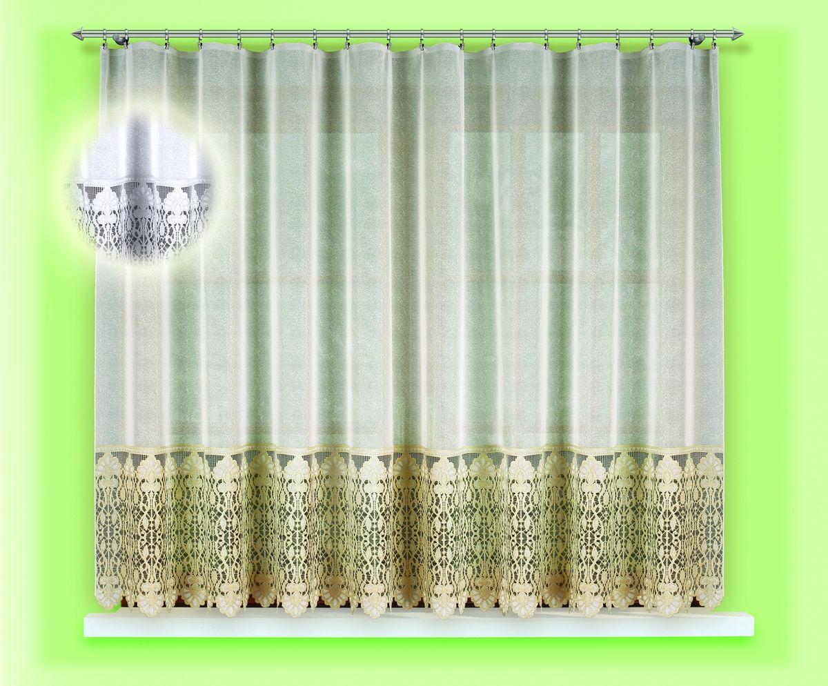 Гардина для кухни Haft Magia Wzorow, на ленте, цвет: белый, высота 160 см. 54870/16054870/160Воздушная гардина Haft Magia Wzorow, изготовленная из полиэстера белого цвета, станет великолепным украшением любого окна. Оригинальный цветочный орнамент, украшающий нижний край гардины, и нежная ажурная фактура материала привлекут к себе внимание и органично впишутся в интерьер комнаты. В гардину вшита шторная лента. Размер гардины: 160 см х 300 см. Главный ассортимент компании Haft - это тюль и занавески. Haft предлагает готовые решения для ваших окон, выпуская готовые наборы штор, которые остается только распаковать и повесить. Модельный ряд отличает оригинальный дизайн, высокое качество. Занавески, шторы, гардины Haft долговечны, прочны, практически не сминаемы, они не притягивают пыль и за ними легко ухаживать. Вся продукция бренда Haft выполнена на современном оборудовании из лучших материалов.