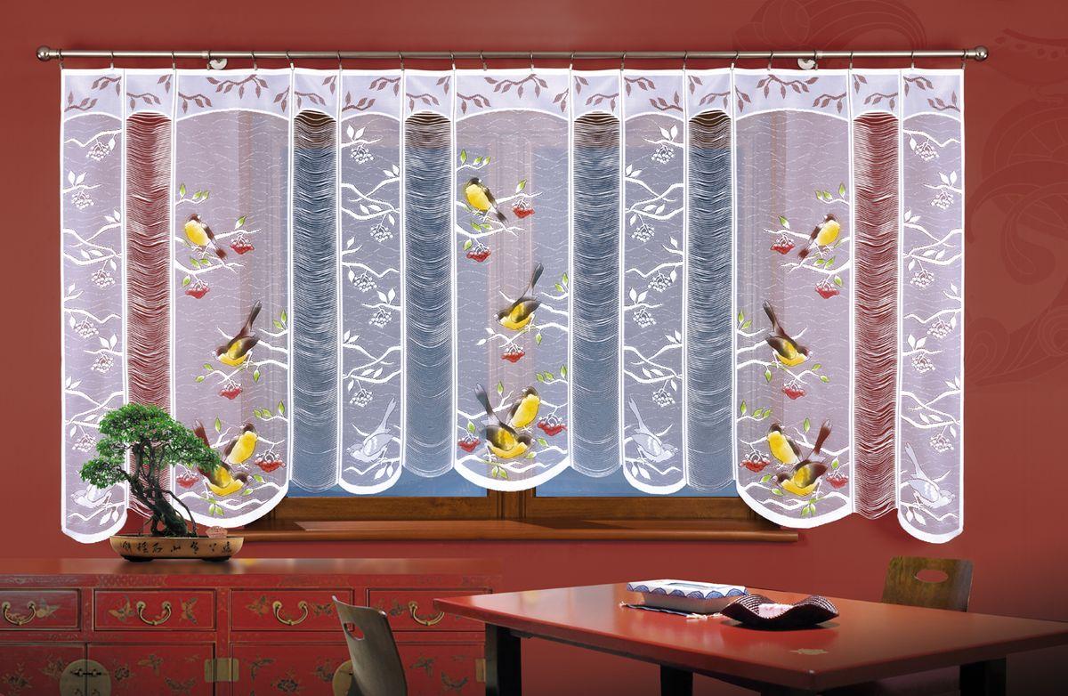 Гардина Wisan Птички, цвет: белый, высота 150 смА918Воздушная гардина Wisan Птички, изготовленная из полиэстера, станет великолепным украшением любого окна. Оригинальный принт в виде птичек и приятная цветовая гамма привлекут к себе внимание и органично впишутся в интерьер комнаты. Оригинальное оформление гардины внесет разнообразие и подарит заряд положительного настроения. Верхняя часть гардины не оснащена креплениями.