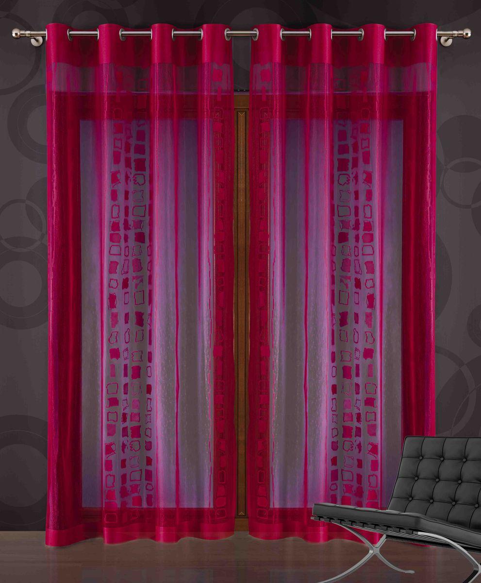 Штора Wisan Gaston, на люверсах, цвет: красный, высота 250 см717AШтора Wisan Gaston изготовлена из легкого сетчатого полиэстера и украшена ажурным рисунком. Качественный материал, оригинальный дизайн и контрастная цветовая гамма привлекут к себе внимание и органично впишутся в интерьер помещения. Штора на пластиковых люверсах. Штора Wisan Gaston великолепно украсит любое окно. Уважаемые клиенты! Обращаем ваше внимание, что в комплект входит одна штора. Фото с двумя шторами, данное в интерьере служит для визуального восприятия товара.