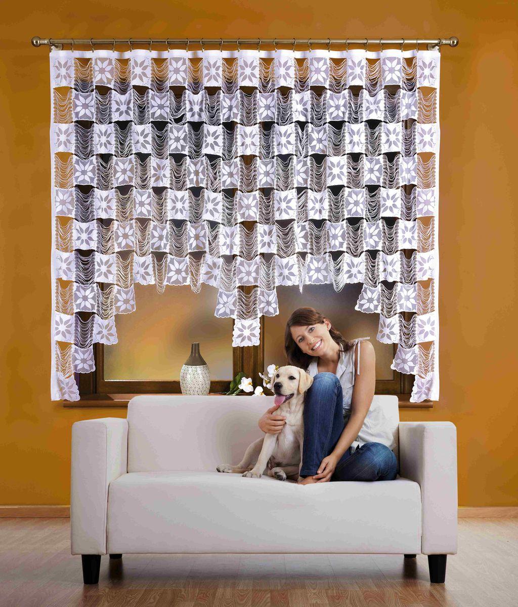 Гардина Wisan Stasia, на ленте, цвет: белый, высота 170 см510АВоздушная гардина Wisan Stasia, изготовленная из полиэстера, станет великолепным украшением любого окна. Изделие выполнено из бахромы с квадратными вставками. Оригинальное оформление гардины внесет разнообразие и подарит заряд положительного настроения. Гардина оснащена шторной лентой для крепления на карниз.