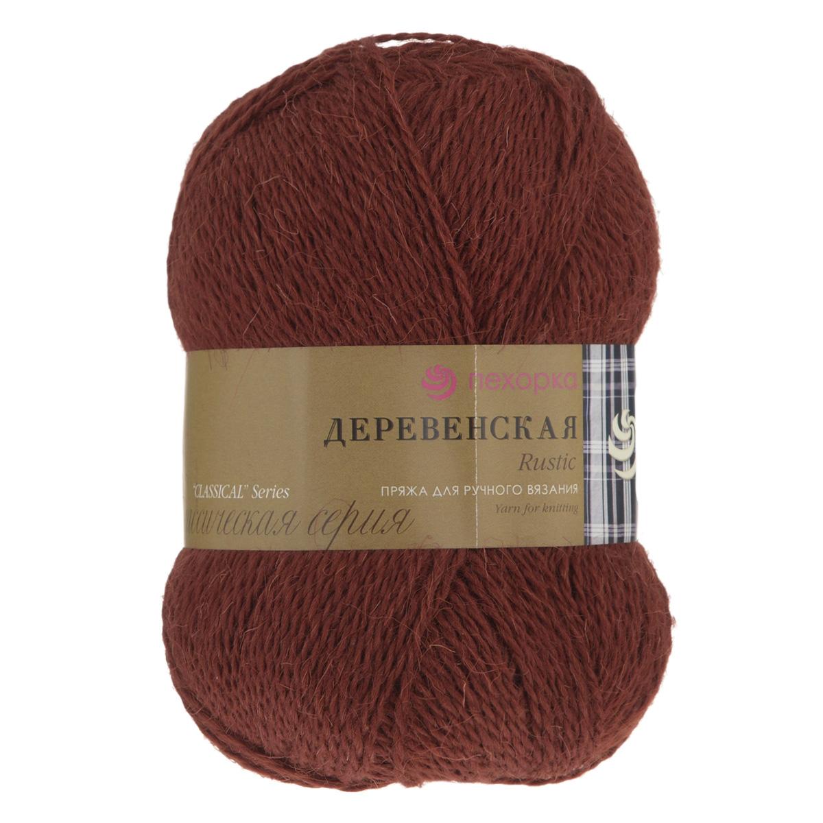 Пряжа для вязания Пехорка Деревенская, цвет: красное дерево (487), 250 м, 100 гр, 10 шт360039_487_487-Красное деревоПряжа для вязания Пехорка Деревенская изготовлена из 100% полугрубой шерсти. Деревенской названа потому что, в те прошлые далекие годы наши бабушки обрабатывали шерсть вручную, выпрядали пряжу и вязали рукавицы, носки, жилетки, свитера. Такой трикотаж получается колючий, но теплый, а также прекрасно держит форму. Рекомендуемые спицы для вязания №3,5. Толщина нити: 2 мм.
