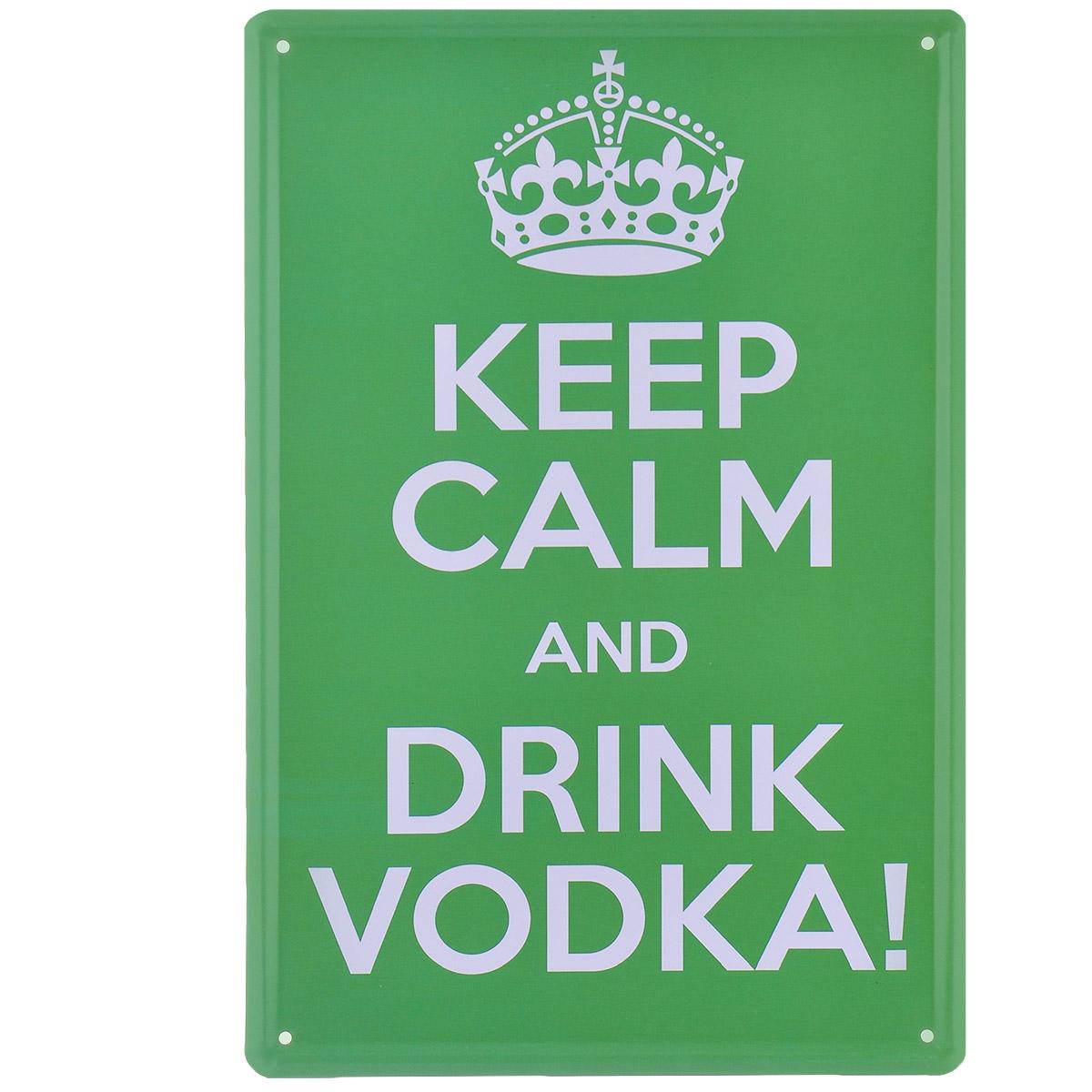 Постер Феникс-презент Сохраняй спокойствие, цвет: зеленый, 20 см х 30 см37436Постер Феникс-презент Сохраняй спокойствие выполнен из черного металла. На постере изображена фраза Keep Calm And Drink Vodka!.Постер заинтересует всех любителей оригинальных вещиц и доставит массу положительных эмоций своему обладателю. Картина для интерьера (постер) - современное и актуальное направление в дизайне любых помещений. Постер может использоваться для оформления любых интерьеров: - дом, квартира (гостиная, спальня, кухня); - офис (комната переговоров, холл, кабинет); - бар, кафе, ресторан или гостиница. Из мелочей складывается стиль интерьера. Постер Феникс-презент Сохраняй спокойствие одна из тех деталей, которые придают интерьеру обжитой вид и создают ощущение уюта.