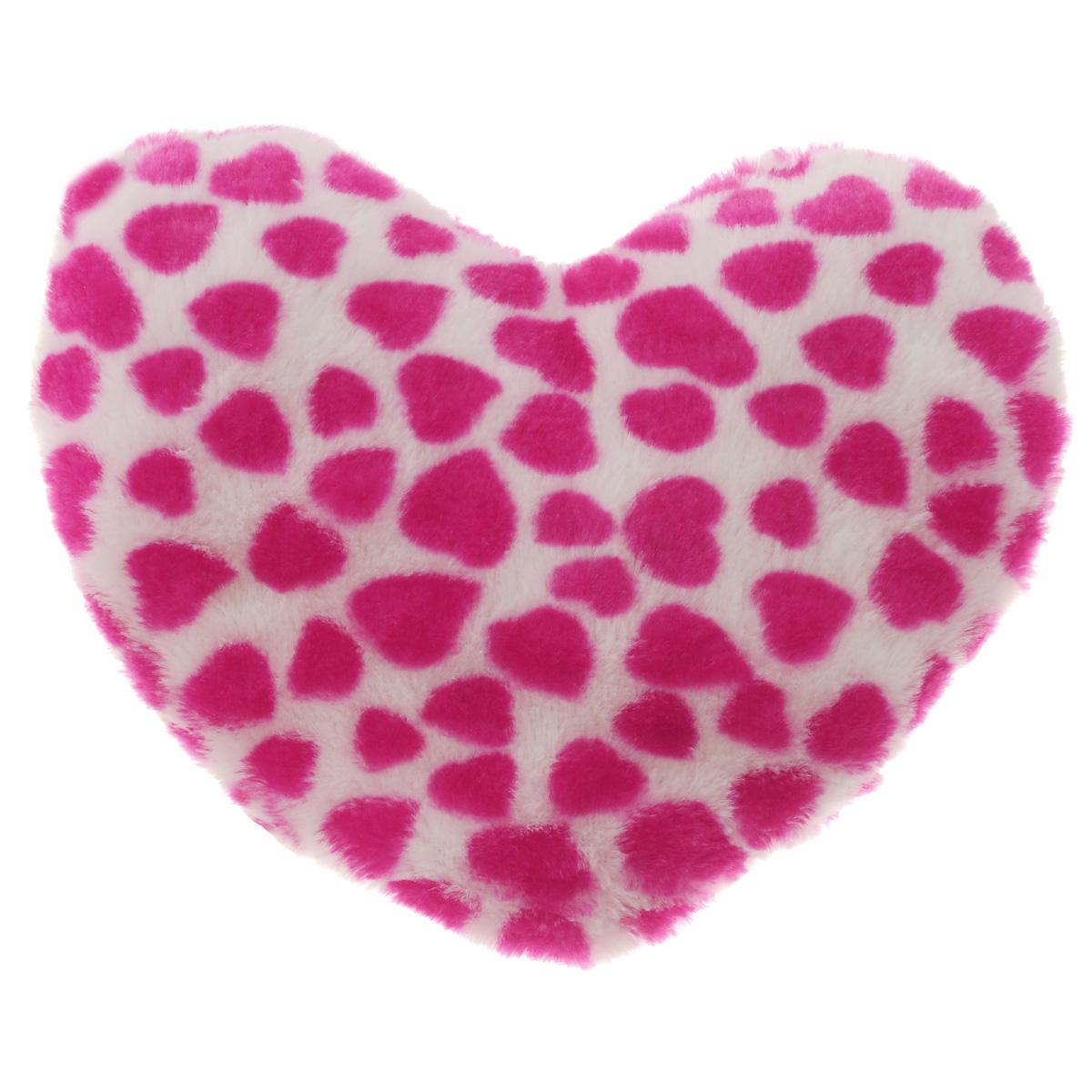 Подушка декоративная Home Queen Сердце в сердечках, 22 см х 22 см64130Декоративная подушка Home Queen Сердце в сердечках станет прекрасным подарком дорогим и любимым людям. Подушка выполнена из мягкого и приятного на ощупь полиэстера с принтом в виде мелких розовых сердечек. Внутри мягкий наполнитель из полиэстера. Размер подушки: 22 см х 22 см х 5 см.