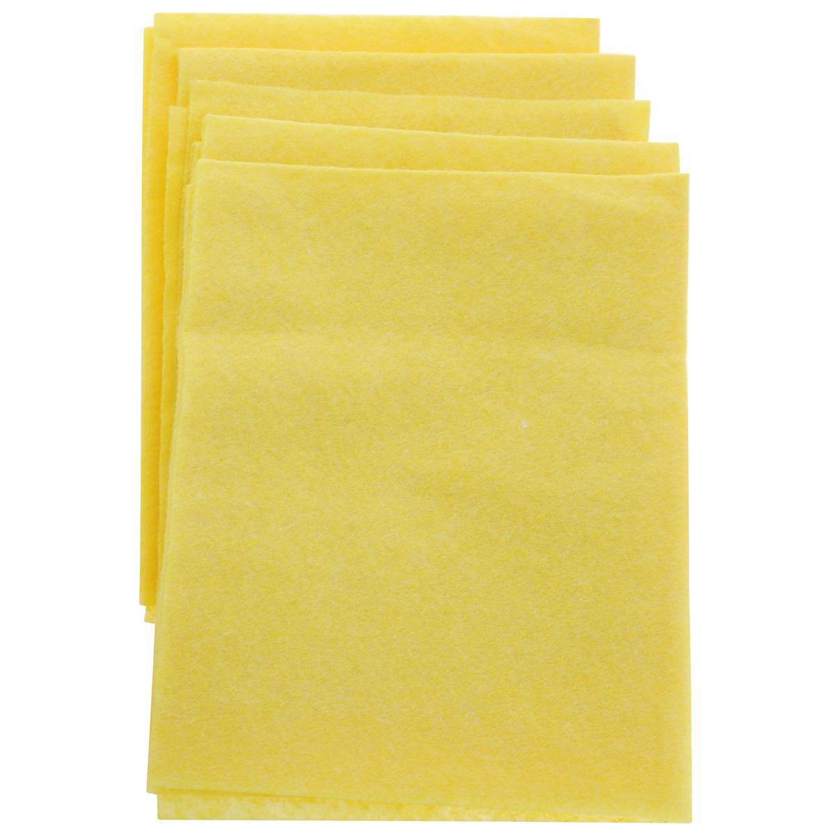 Салфетка для уборки Home Queen, цвет: желтый, 30 х 38 см, 5 шт57118Салфетка Home Queen, изготовленная из вискозы и полиэстера, предназначена для очищения загрязнений на любых поверхностях. Изделие обладает высокой износоустойчивостью и рассчитано на многократное использование, легко моется в теплой воде с мягкими чистящими средствами. Супервпитывающая салфетка не оставляет разводов и ворсинок, удаляет большинство жирных и маслянистых загрязнений без использования химических средств. Размер салфетки: 30 см х 38 см. Комплектация: 5 шт.