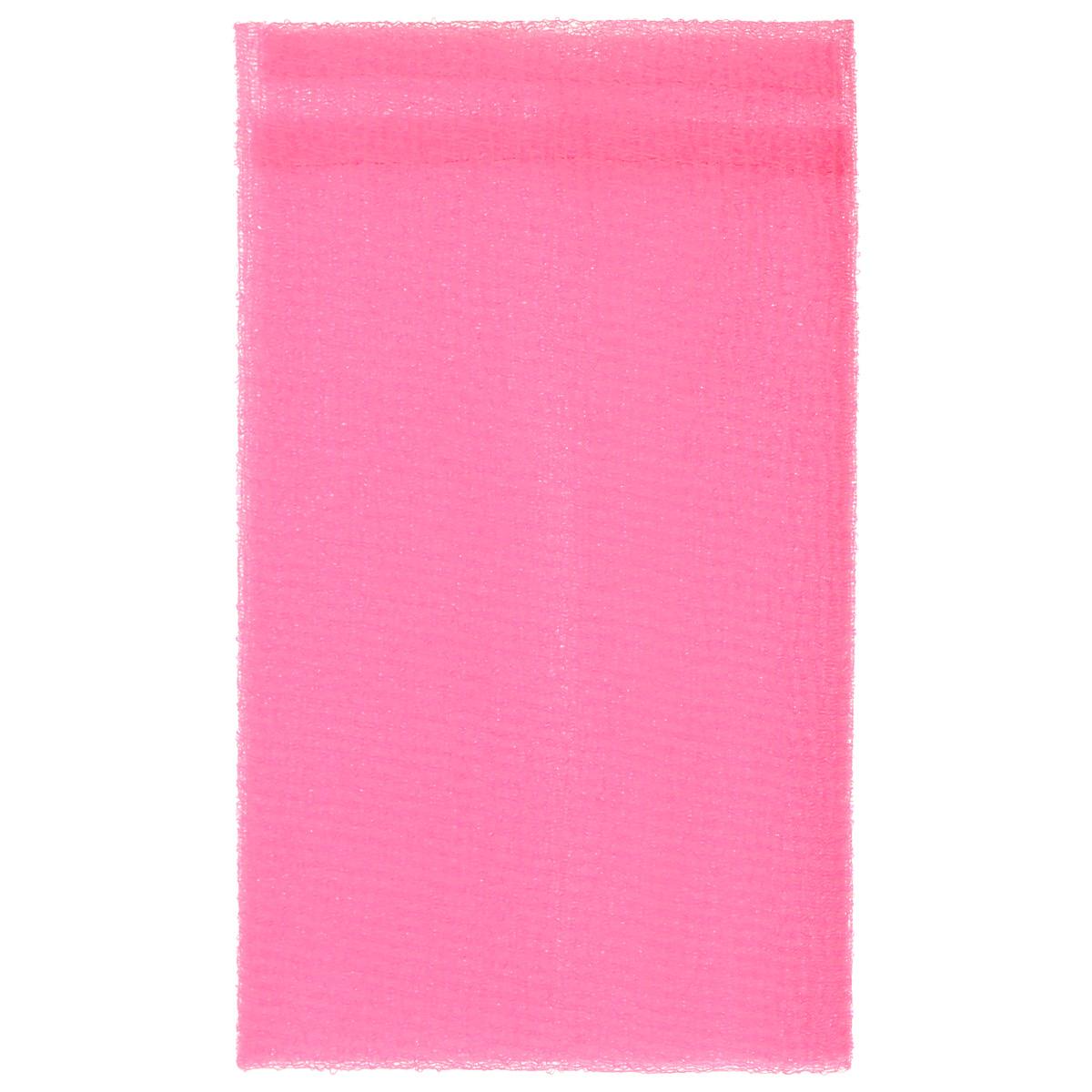 Мочалка-скраб The Body Time, цвет: розовый, 100 см х 30 см57051Мочалка-скраб The Body Time изготовлена из нейлона. Благодаря особому переплетению волокон, мочалка прекрасно очищает, массирует и тонизирует кожу, создает пышную пену даже при экономном использовании геля для душа. Изделие можно использовать как мочалку-бант или как длинную мочалку для спины.