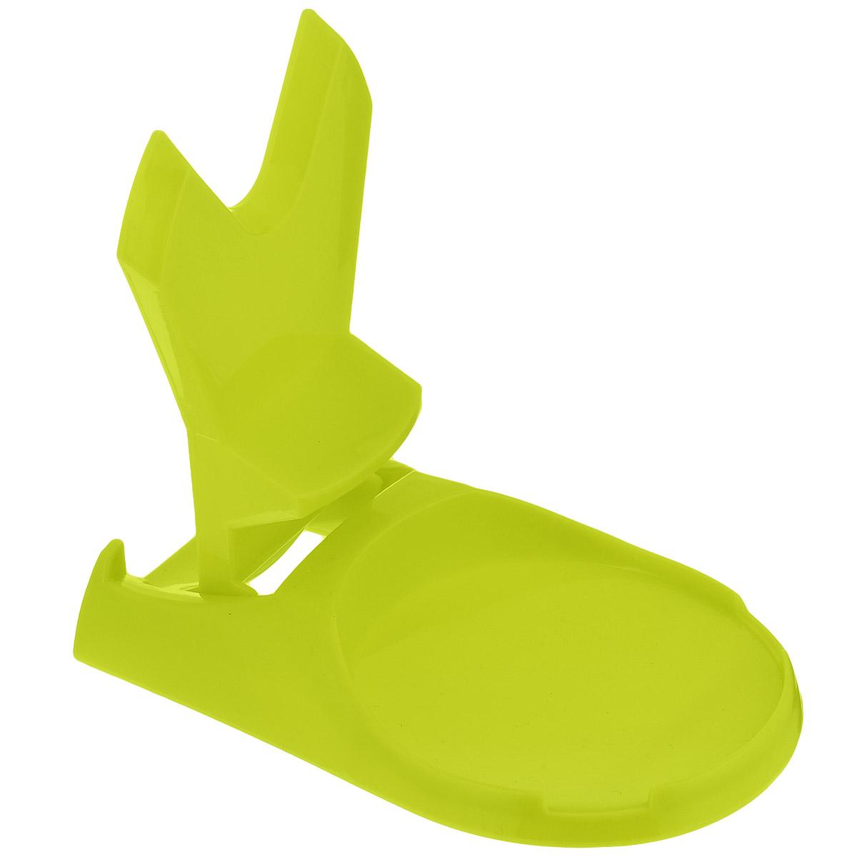 Подставка для крышки и ложки Bradex Помогайка, цвет: зеленыйTK 0124Каждая уважающая себя хозяйка знает, как сложно сохранить порядок на кухне во время готовки. Но с помощью подставки Bradex Помогайка вы в любой момент можете надежно закрепить ложку и крышку от кастрюли, не запачкав при этом поверхность стола или кухонной стойки и без отрыва от готовки. Стильный дизайн аксессуара, несомненно, украсит вашу кухню и обновит ее внешний вид. Вам больше не придется тратить драгоценные минуты на поиск места, куда пристроить только что использованную ложку или крышку. Ваша кухня будет более чистой, так как теперь не придется оттирать пятна от еды, попавшие на стол или пол от приборов, которыми пользуются не раз в процессе готовки. Подходит для крышек и ложек любого размера!