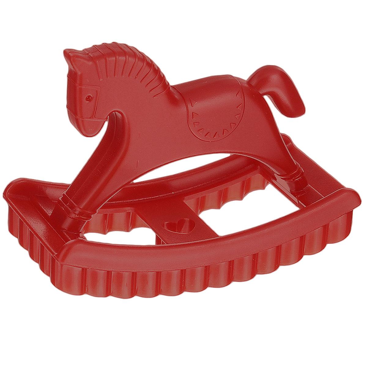 Форма для печенья Ototo Pony, цвет: красныйOT786Самые сладкие воспоминания из детства: лошадка-качалка и мамино ароматное печенье. Почему бы не совместить их вместе? Чудесная форма Ototo Pony, выполненная из пластика, поможет получить симпатичные печенья с сердечком.