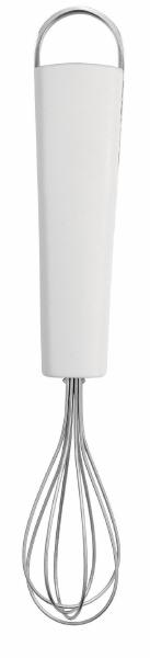 Венчик Brabantia, малый. 400285400285Венчик Brabantia, изготовленный из качественной стали, поможет вам с легкостью смешать и взбить заправку, крем или тесто. Ручка изделия выполнена из белого пластика и оснащена небольшой петелькой, за которую венчик можно подвесить в любом удобном для вас месте. Практичный и удобный венчик Brabantia займет достойное место среди аксессуаров на вашей кухне.